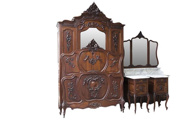 Набор для спальни Людовика XV (5 шт.) в стиле Рококо Людовик XV под заказ
