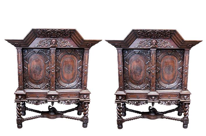 Старинные шкафы 1900 год в стиле Готика, Германия, конец 19 века