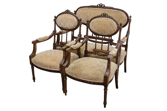 Комлект мягкой мебели в стиле Рококо Людовик XV, Франция, конец 19 века